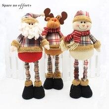 47 см Санта Клаус Снеговик Рождественские куклы Рождественские украшения для дома выдвижной стоячая Игрушка день рождения подарок Дети натальные