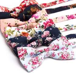 Мужские галстук-бабочка из хлопка с принтом модные галстуки с цветочным рисунком розы свадебной вечеринки с бантом галстук-бабочка homme mariage