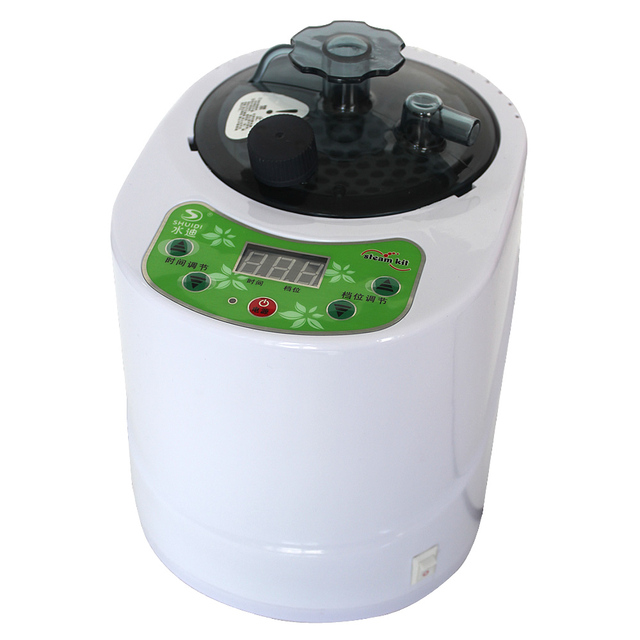NEW !!Steam Sauna Box Powerful 1000W 2.0L Remote Controlled Steam Generator Stainless Steel Steaming Vessel 220V 1000W