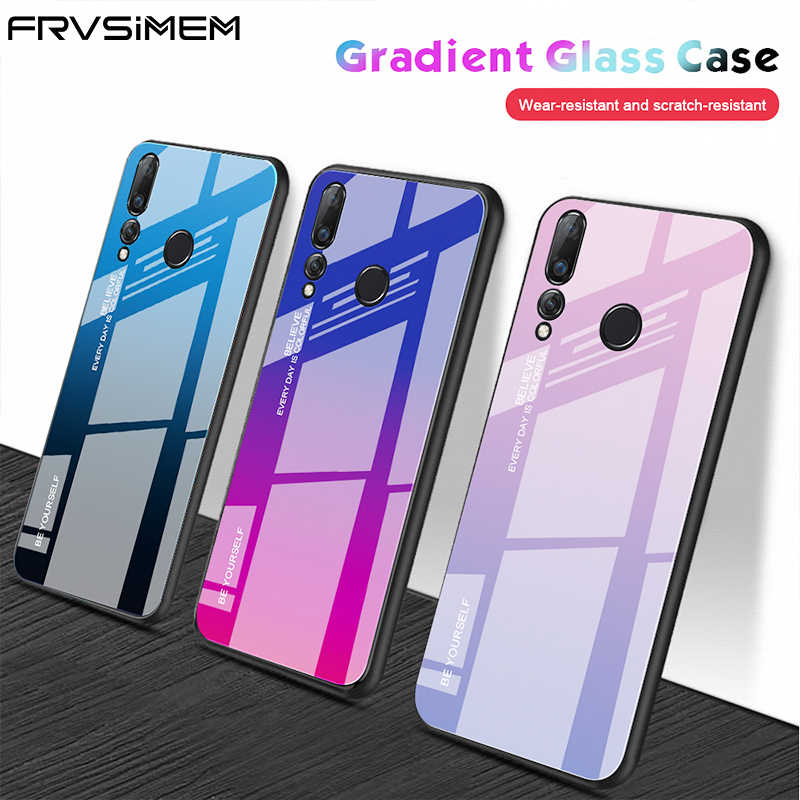 Gradient Tempered Glass Phone Case For Huawei P30 Pro P20 Lite Mate 20 P Smart 2019 Z Plus Nova 5 5i 3 3i Honor 10i 10 20 Cover