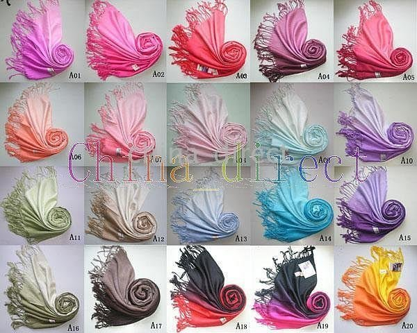 2016 new Silk feeling Scarf Shawl Wrap Womens Scarves 2-Tone 30 Colors 30pcs/lot
