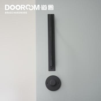 Dooroom mosiądz ukryte drzwi zestaw z zamkiem nowoczesny skandynawski czarne złoto wnętrze pokoju sypialnia do łazienki do pokoju gościnnego pokój manekin uchwyt gałka tanie i dobre opinie 35-50mm Y308B-Z214 Lakierowane Salon