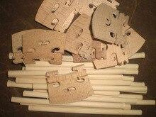 10 Stücke Violine Ton beitrag 6,2mm * 13 cm mit 10 Stücke Ahorn Violine Brücke 4/4