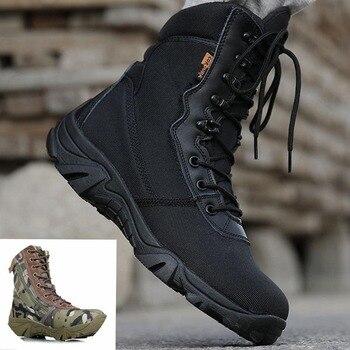 Masorini Men Military Boots Camouflage Tactical Combat Boots Asker Bot Men Kamuflaj Bot Army Shoes Men Climbing Shoes WW-673 work boots