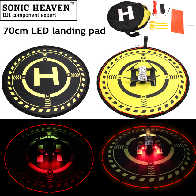 US $8 94 11% OFF|70cm 2 Sided Fast Fold Landing Pad w/ LED Light Parking  Aporn Location for Parrot Anafi DJI Mavic 2 Pro Phantom 3/4 Pro/4 pro+-in