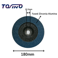 2 pieces 7 (180mm) Zirconia Alumina Sanding Flap Discs Grinding Sanding Polishing Wheels Polished Wafers Wheels
