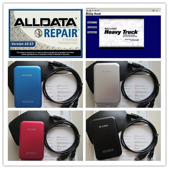 new v10.53 alldata auto repair software (576gb)+ mitchell on demand  (161gb) +mitchell heavy truck +49in1 1tb hdd all data