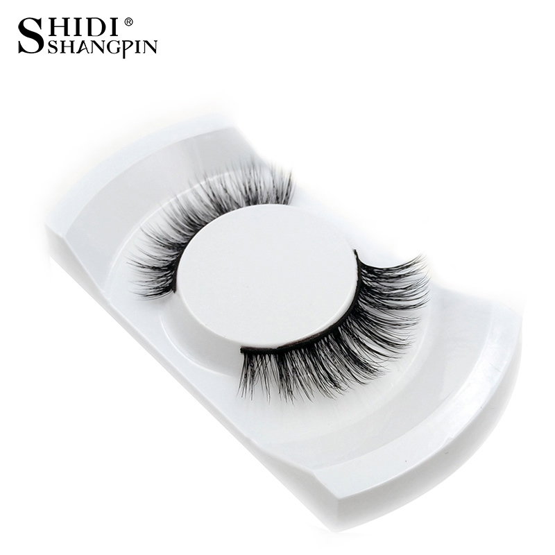 Nya 1Pair Natural False Eyelashes 3d Makeup 3d Mink Lashes Mjuk Ögonfransförlängning Fake Strip Mink Ögonfransar Lång Drop Shipping