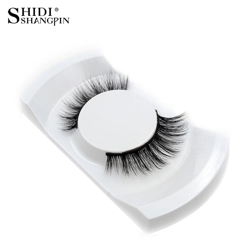 New 1Pair Natural False Eyelashes 3d Makeup 3d Mink Lashes Soft Eyelash Extension Fake Strip Mink Eyelashes Long Drop Shipping
