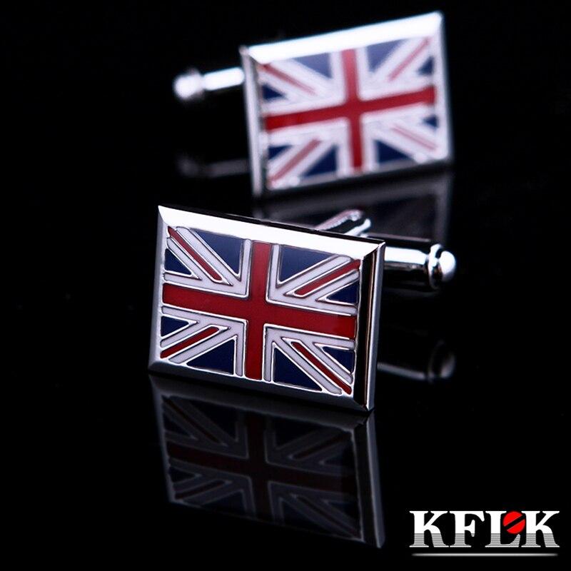 d24b45d7475 KFLK Jóias Francês camisa abotoaduras bandeira de Inglaterra para homens  Marca de Moda ligação de Punho Por Atacado Botão de Alta Qualidade Frete  Grátis em ...
