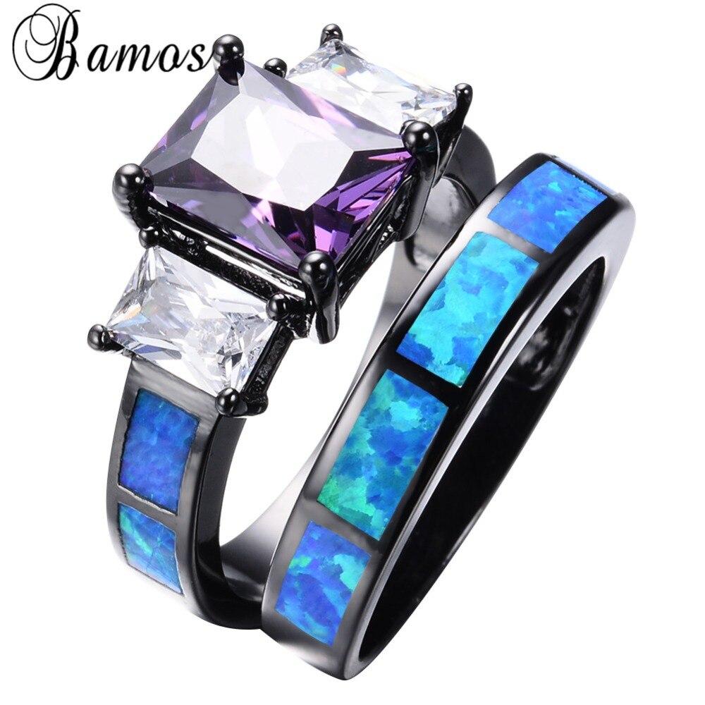 online get cheap black and purple wedding ring set -aliexpress