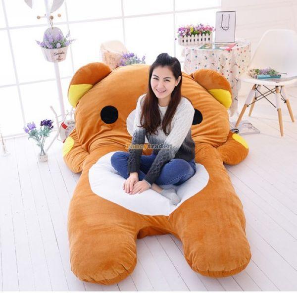 Fancytrader 200cm X 150cm Giant Huge Soft Stuffed Rilakkuma Double Size Bed Carpet Tatami Mattress Sofa, Free Shipping FT50336