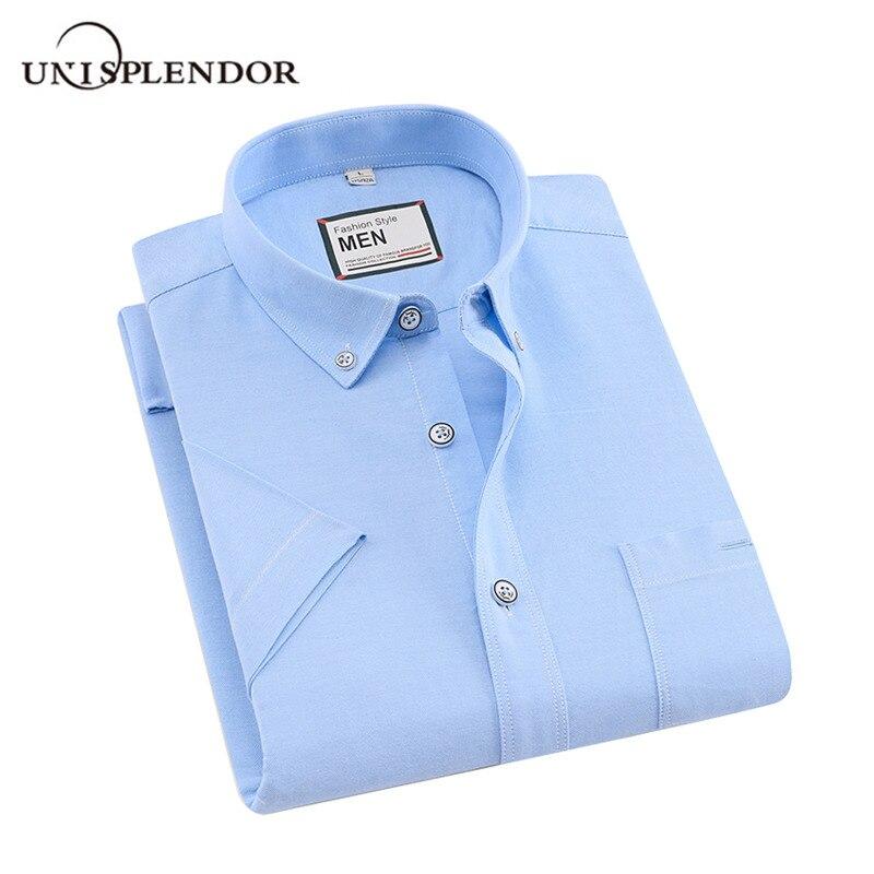 100% Baumwolle Sommer Männer Shirts Kurzarm Männer Kleid Shirt Gestreiften/solide Mann Weichen Shirt Marke Casual Male Kleidung Der Yn10463 Attraktives Aussehen
