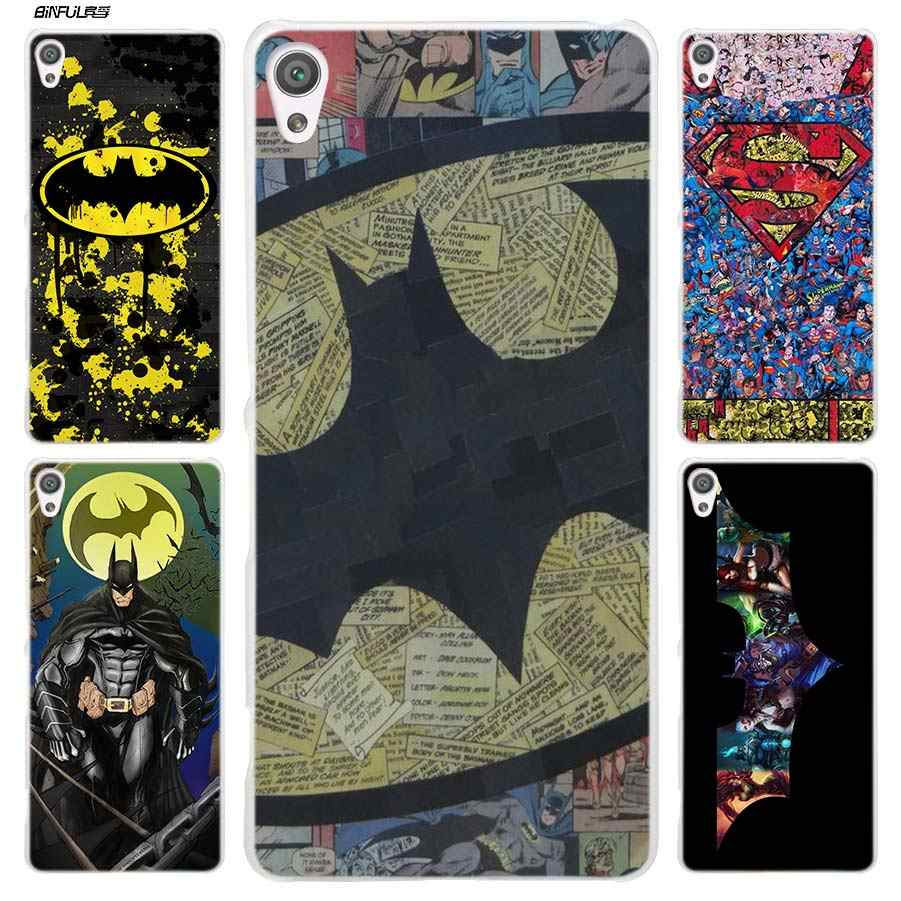 BiNFUL Бэтмен супергерой Прозрачный чехол для sony Xperia XA XA1 X XZ Z5 Z1 Z2 Z3 M4 Aqua M5 E4 E5 C4 C5 Compact Premium