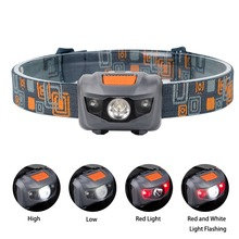 PANYUE LED Headlight Head Bike Lamp Light Infrared Ray Mini Waterproof 500Lm 4 Modes 3xAAA Headlamp With Headband