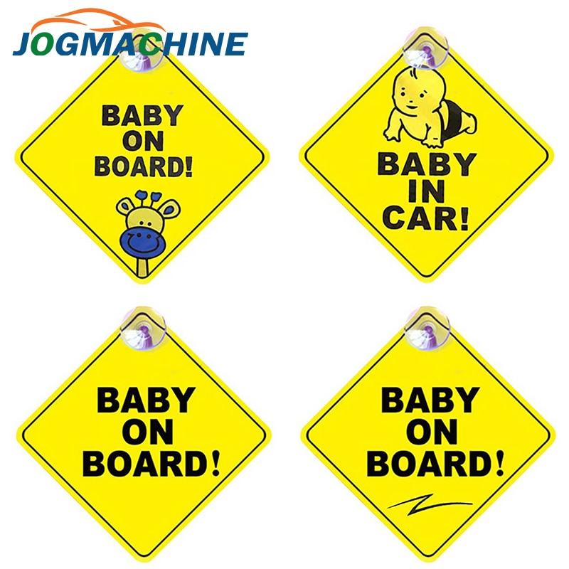 Autocollant de voiture bébé à bord avertissement signe de sécurité autocollants vinyle décalque style de voiture pour carrosserie porte fenêtre autocollant