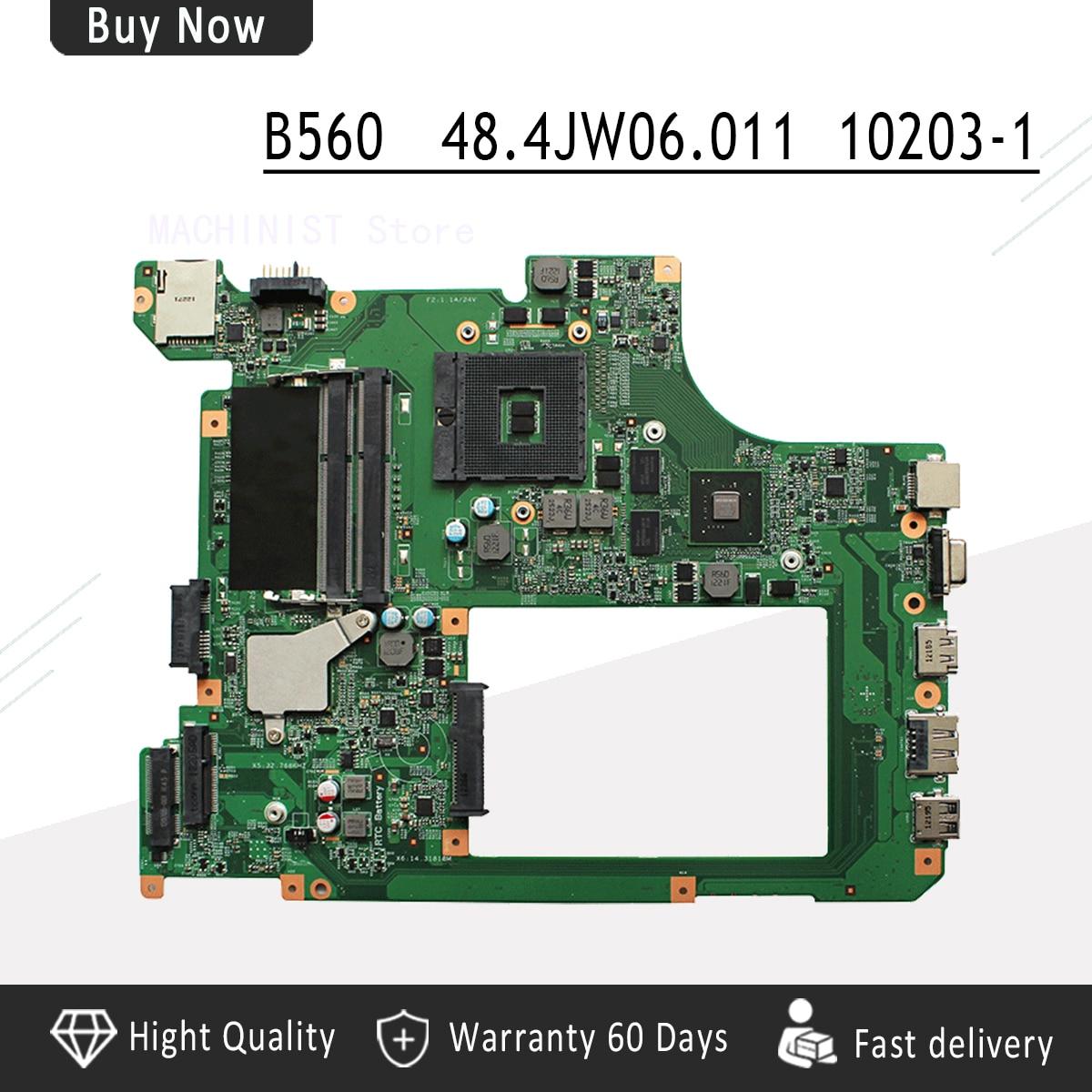 Original For Lenovo B560 V560 laptop notebook motherboard PGA989 GT310M 10203-1 LA56 48.4JW06.011Original For Lenovo B560 V560 laptop notebook motherboard PGA989 GT310M 10203-1 LA56 48.4JW06.011
