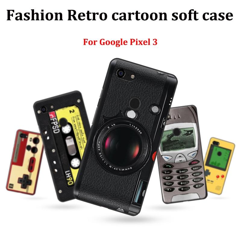 For Google Pixel 3 Case Soft Cases For Google Pixel3 Case Phone Cover Retro Cartoon Skin For Google Pixel 3 Fundas Capas Skin
