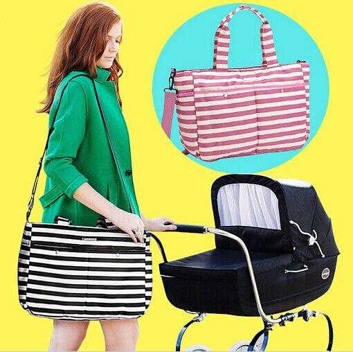 tote messenger Strip Waterproof Baby diaper bag for stroller kids nappy changing bolsa maternidade mother maternity bag
