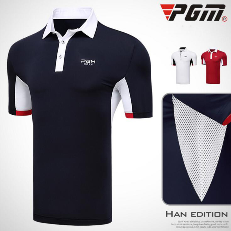 PGM Brand Mens Golf polo shirt Fitness Running outdoor sports jogging workout Tops Short sleeve tennis t shirts clothing tops