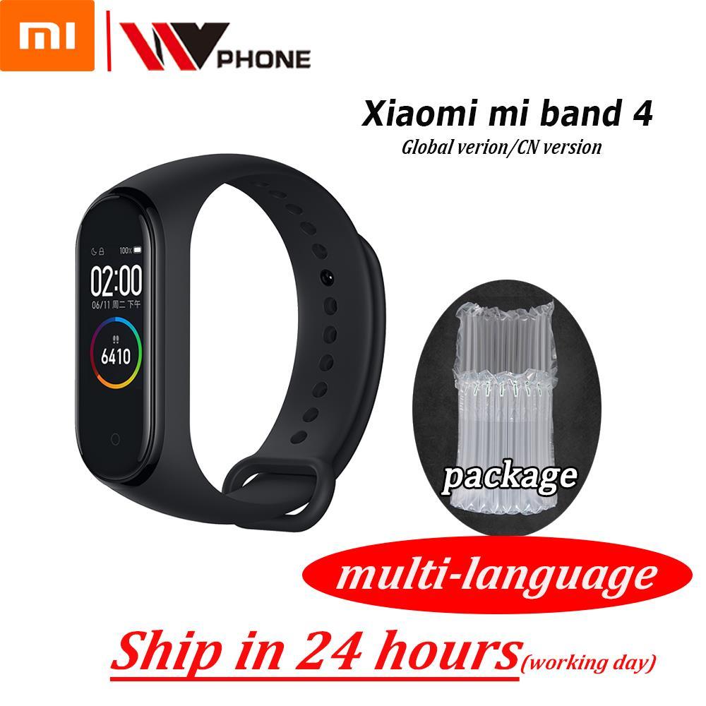 Original XiaoMi Mi bande 4 Bracelet intelligent Bracelet de Fitness Bracelet MiBand 4 fréquence cardiaque temps grand écran tactile Message Smartband