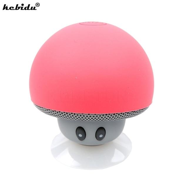 kebidu Portable Wireless Bluetooth Speaker Mini Mushroom Waterproof Stereo Speaker Music Player for Xiaomi iPhone for Android