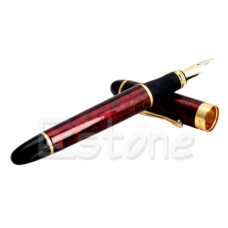 Better JINHAO X450 Carven B/Medium Nib Fountain Pen Red Flower