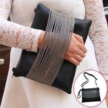 2017 New Women PU Leather Tassel Shoulder Evening Envelope Bag Handbags Clutch Bag AGD FA$B