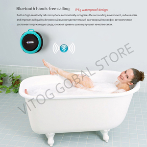 Image 2 - Bluetooth スピーカーミニポータブル防水ワイヤレススピーカー吸盤サポート TF カード iphone スマートフォン屋外スピーカー