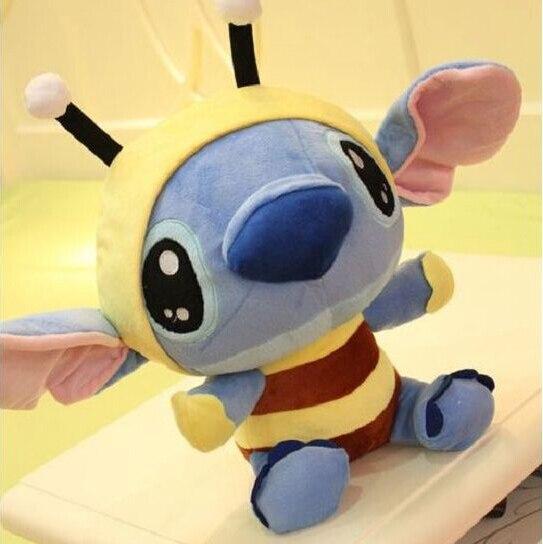 1pcs 20cm Kawaii Anime Bee Stitch Boneca Dolls Plush Toy Brinquedos Stitch Interstellar Stuffed Plush Toy Christmas Gift