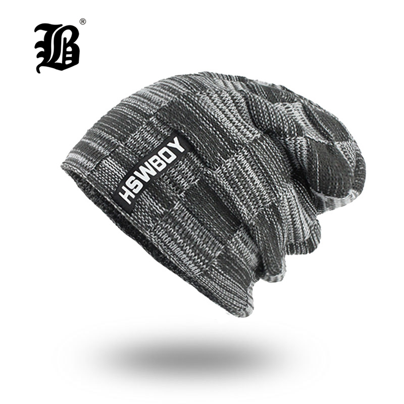 [FLB] Winter Knitted Hat   Beanie   Men   Skullies     Beanies   Winter Hats For Women Men Caps Gorras Bonnet Mask Brand Hats F18002