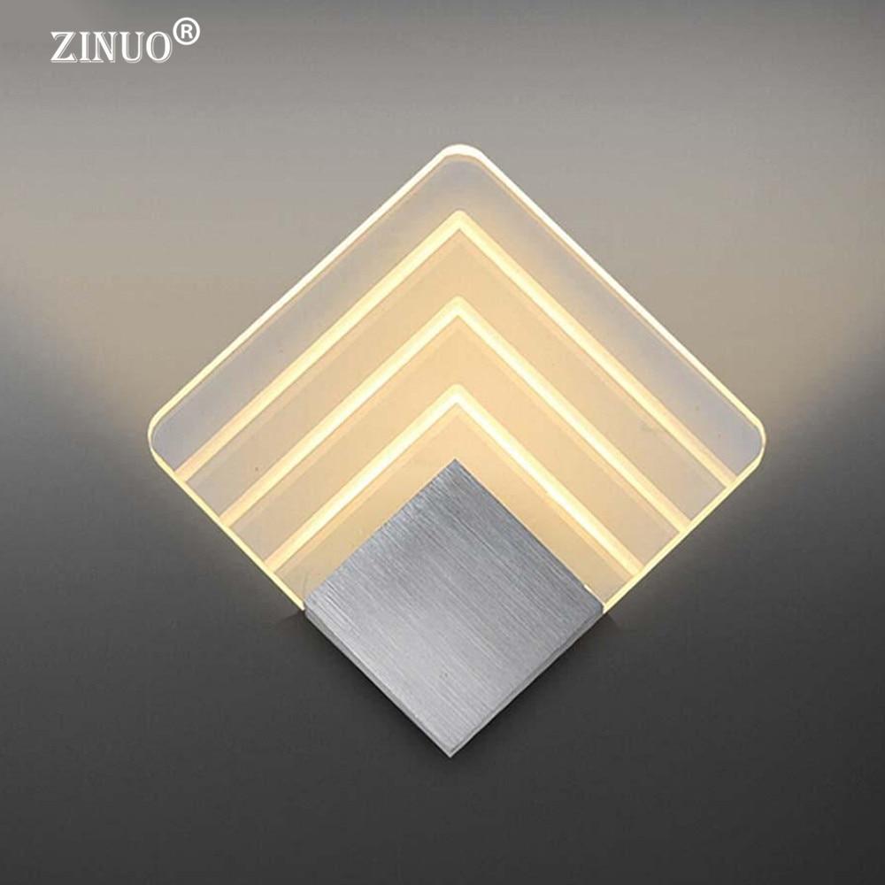 ZINUO Modern 5W Wall Light Acrylic Sconce Lamp Warm White Wall Mounted Lighting Fixture  ...