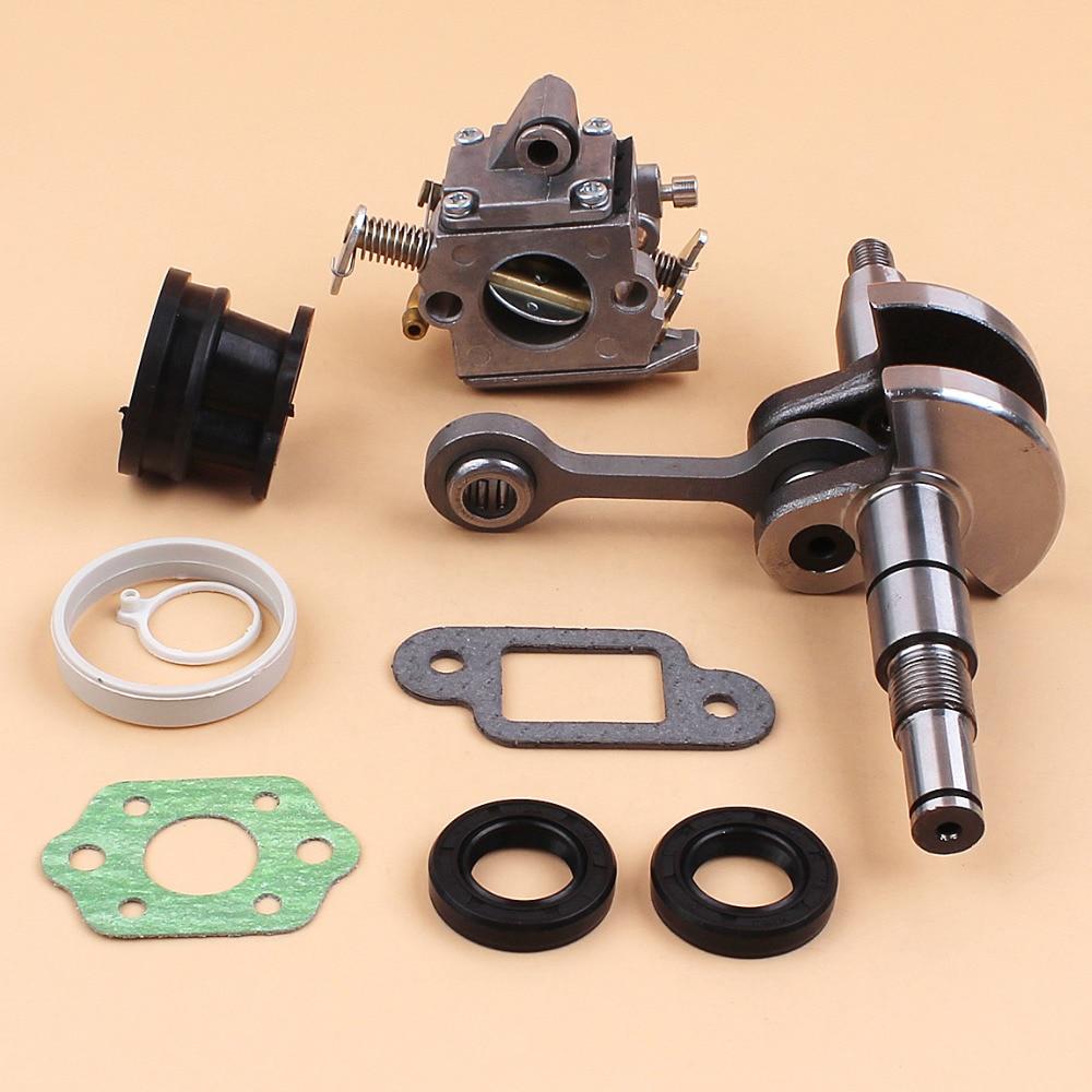 Crankshaft Carburetor Carb Oil Seal Gasket Set Fit Stihl 017 Ms 170 Ms170 Chainsaws Replace Parts 8mm Pin