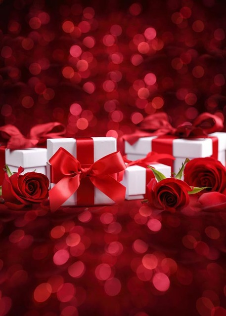 Red Roses Lovely Gifts Photography Backdrops For Valentine S
