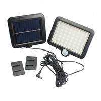 56PC LED Solar Powered Light With PIR Body Motion Sensor Lamp Outdoor Floodlights Garden Yard Spotlights Wall Lighting