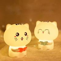 Colorful Cute Silicone Luminous Toys Bedroom Creative Dream Bedside Table Lamp Charging Pat Light for Kids Sleep Children Gifts