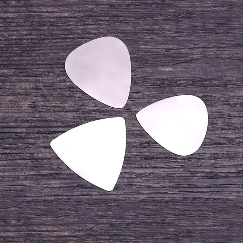 10 pcs/Lot Stainless Steel Metal Electric Guitar Bass Picks Plectrums