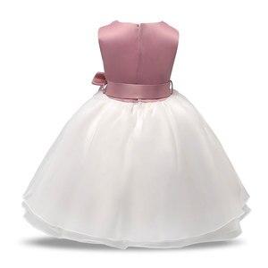 Платье на день рождения для маленьких девочек, 1 год, одежда для маленьких принцесс, крестильное платье, платья для крещения для новорожденных