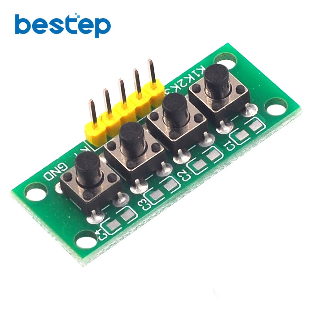 1x4 4 Keys Analog Button Keypad Keyboard Module Mcu Board For Arduino Student Class Design Graduation Project Experiment Diy Kit Video Games