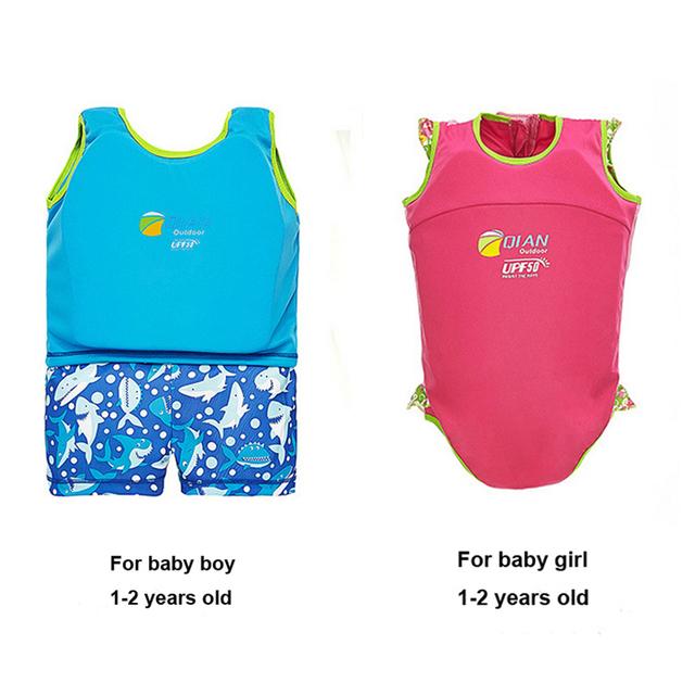 Nuevo Llega 1-2 Años traje de Baño Del Bebé Recién Nacido Nadar Entrenador Infantiles Muchacha Muchachos Traje de Baño Del Niño Nadar Traje de Baño De Flotación pañal Chaleco