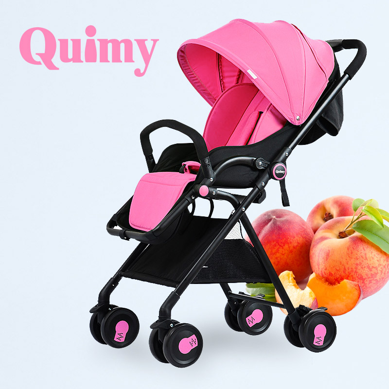 Baby stroller folding ultra-light portable two-way baby cart shock and infants car umbrella