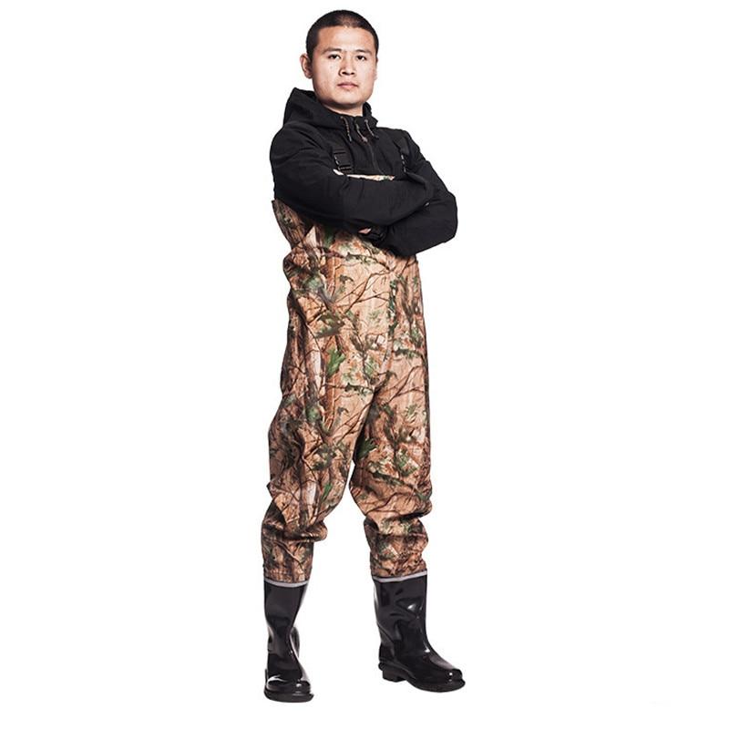 Eu 38 45 Fishing Waterproof Knitting Waders Clothes Pants Wear resisting With Non slip Boots Farming