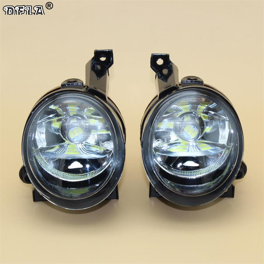 Car LED Light For VW Caddy 2003 2004 2005 2006 2007 2008 Car-styling Front Bumper LED Fog Light Fog Lamp front bumper fog lamp grille led convex lens fog light angel eyes for vw polo 2001 2002 2003 2004 2005 drl car accessory p364