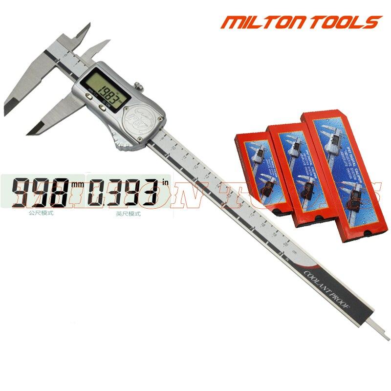 IP67  Waterproof  200mm 8inch Digital Caliper Metal Housing Electronic Vernier Caliper gauge micrometer 0 200mm-in Calipers from Tools    1
