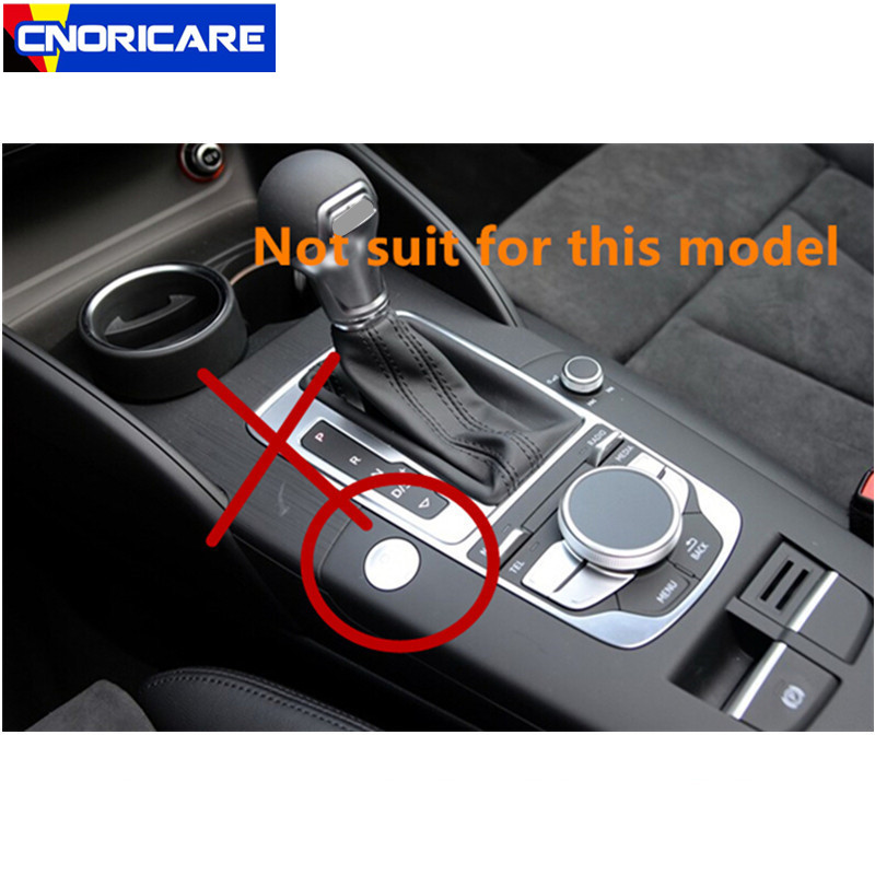 CNORICARC-Stainless-Steel-Gearshift-Panel-Cover-Trim-For-Audi-A3-8V-2014-16-Interior-Central-Armrest