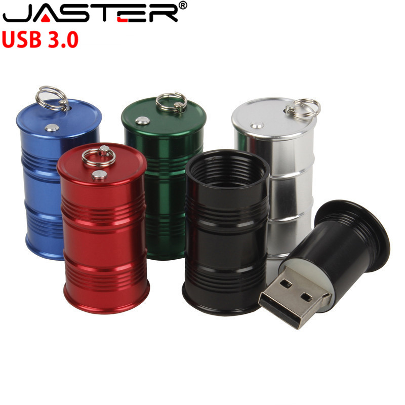 JASTER USB 3.0 New Stylish Metal Mini Barrel Model USB Flash Drive 4GB 8GB 16GB 32GB 64GB 128GB Creative Metal U Disk Small Gift