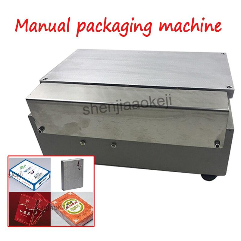Manuel machine d'emballage Cigarette Boxs Emballage Machine poker boîte blister film machine d'emballage, blister d'étanchéité machine 1 pc