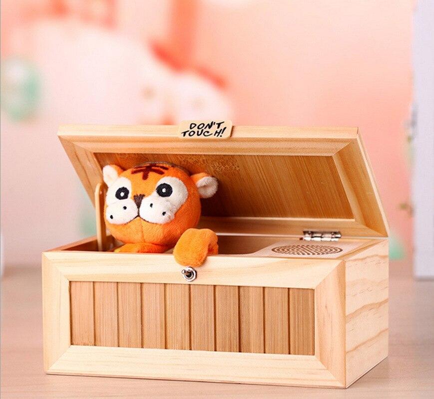 Nouveau Style de Bande Dessinée Tigre Nul Box 20 Action Mode Creative Cadeaux Blagues Drôle Ne pas Tactile Jouets pour Enfants adultes