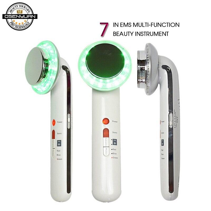 7 En 1 EMS cuerpo ultrasónico adelgazamiento Facial Anti celulitis quema grasa cavitación adelgazante corporal terapia de pérdida de peso masajeador Facial