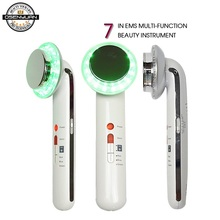 7 IN 1 EMS Ultrasonic Body Facial Slimming Anti Cellulite Burn Fat Cavitation Body Slimming Weight Loss Therapy Face Massager